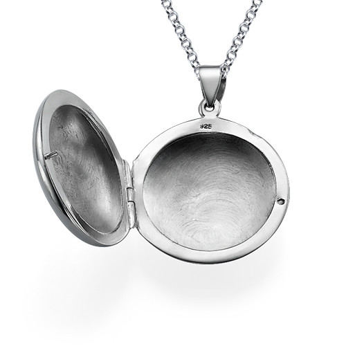 Personalized Initial Locket in Sterling Silver - 1