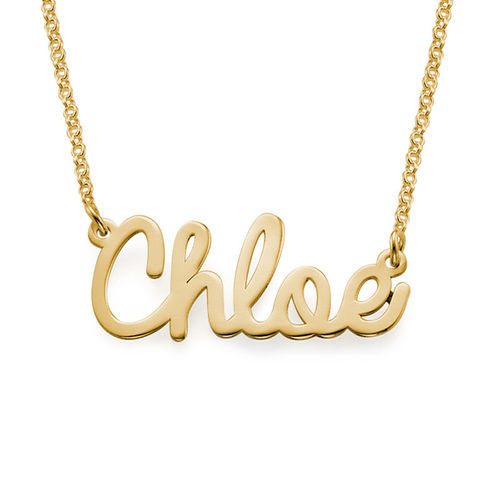 Personalized Jewelry - Cursive Name Necklace in 18k Gold Plating