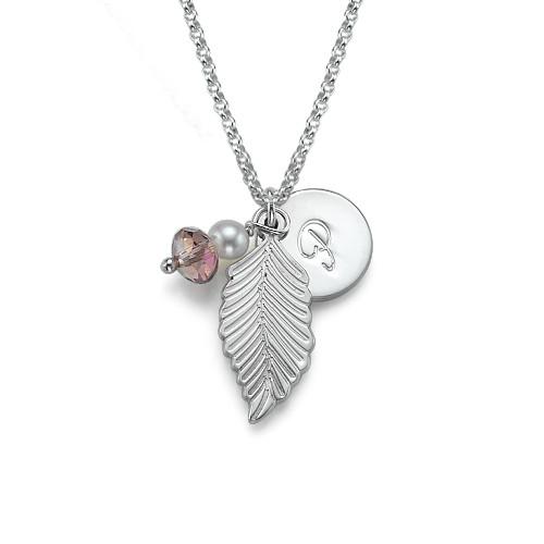 Personalized Leaf Pendant Necklace