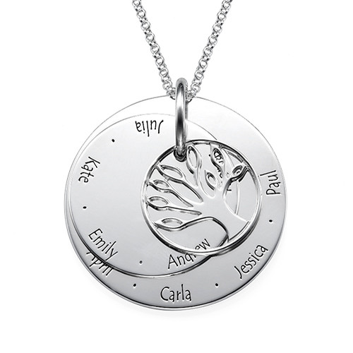 Personalized Mom Jewelry - Family Tree Necklace - 1
