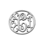 Personalized Monogram Charm in Silver
