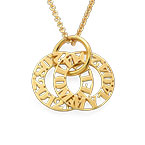 Personalized Mother Necklace in Gold Plating