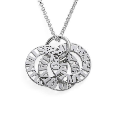 Personalized Mother Necklace in Silver Sterling