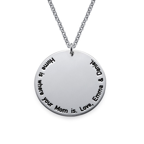 Personalized Mothers Necklace in Silver
