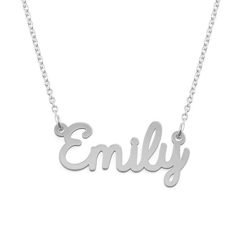 Personalized Cursive Name Necklace in Silver - 2