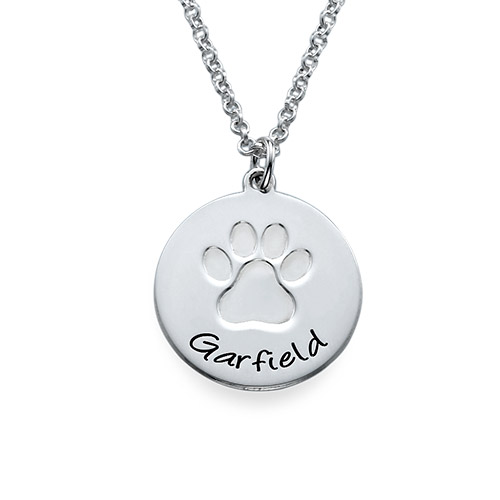 Personalized Paw Print Necklace Mynamenecklace