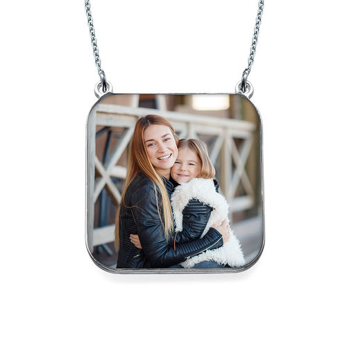 Personalized Photo Necklace - Square Shaped