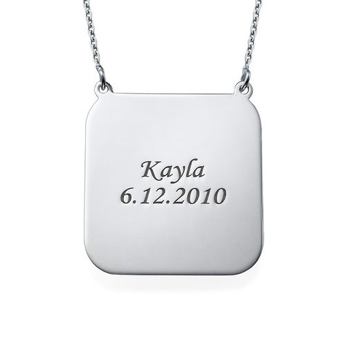 Personalized Photo Necklace - Square Shaped - 1