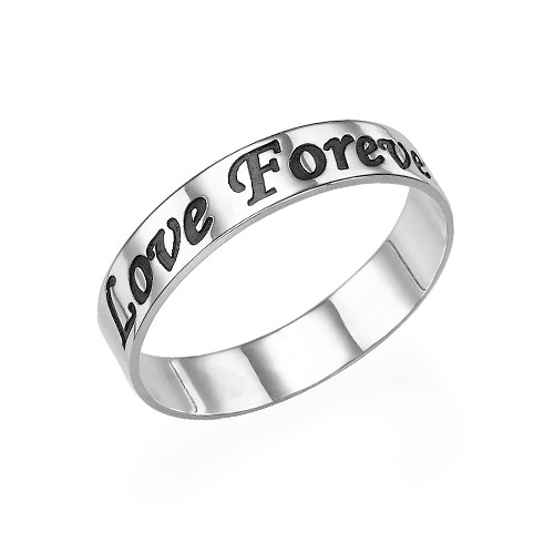 Personalized Promise Ring in Sterling Silver