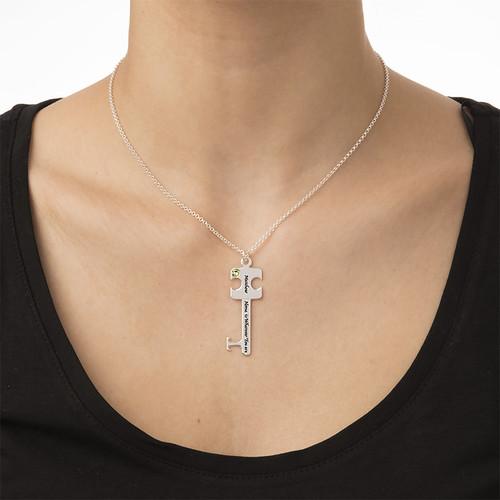 Personalized Puzzle Key Necklace Set - 3