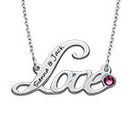 Personalized Script Love Necklace