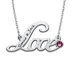 Personalized Script Love Necklace