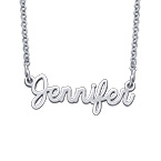 Personalized Script Necklace in Sterling Silver - Next Generation Collection