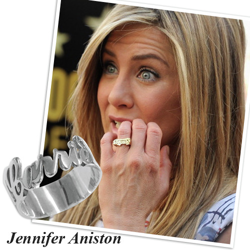 Personalized Silver Cut Out Ring - 2