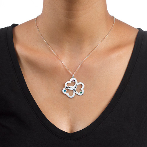 Personalized Triple Heart Necklace - 1