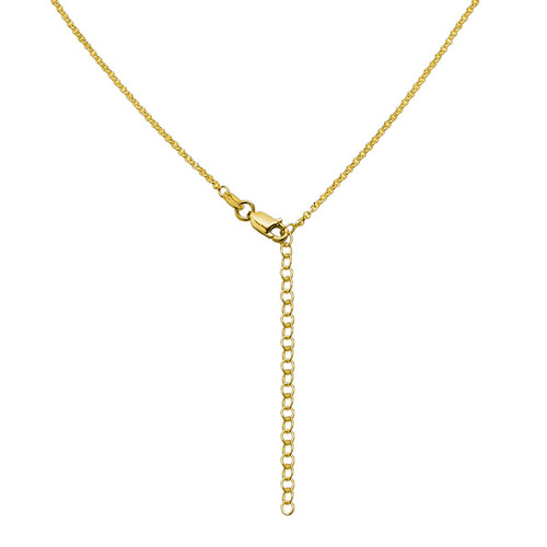 Personalized Triple Heart Necklace in Gold Plating - 4