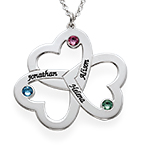 Mother's Day Gifts - Personalized Triple Heart Necklace