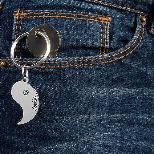 Personalized Yin Yang Keychain for Couples - 3