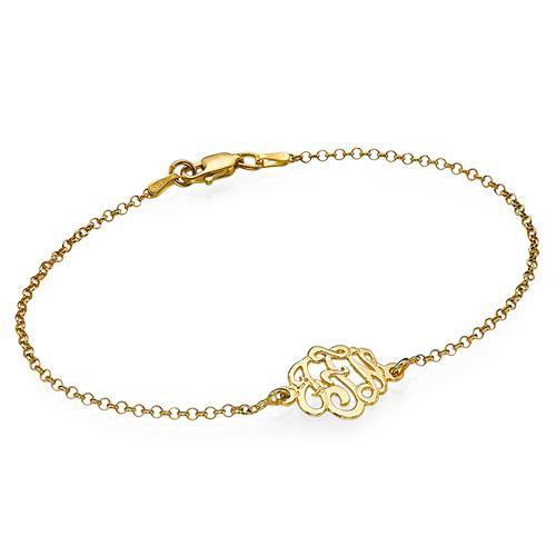 Premium Monogram Bracelet in Gold Plating