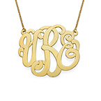 Premium Monogram Necklace in Gold Plating
