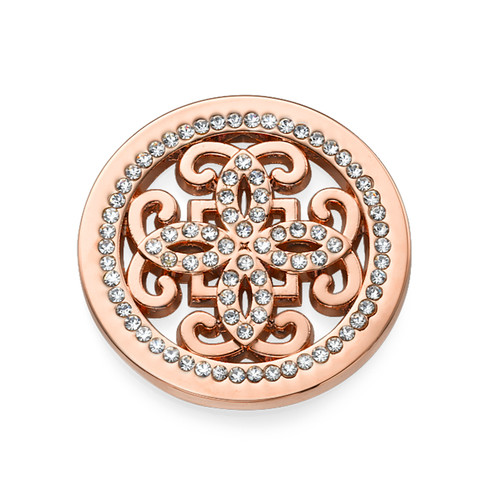 Rose Gold Plated Arabesque Coin