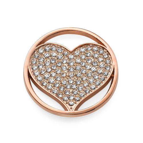 Rose Gold Plated Heart Coin