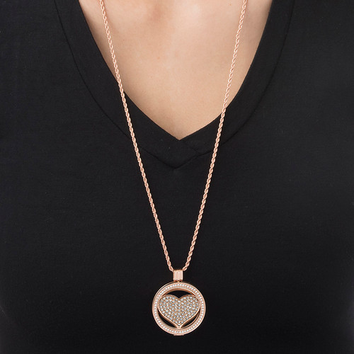 Rose Gold Plated Heart Coin - 1