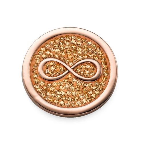 Rose Gold Plated Infinity Coin