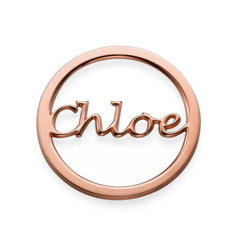 rose gold plated name coin