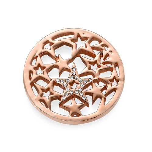 Rose Gold Plated Stars Coin