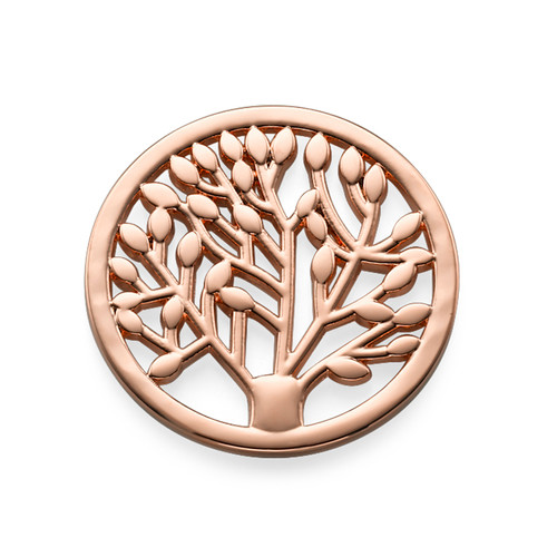 Rose Gold Plated Tree Coin