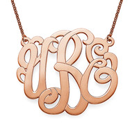 Rose Gold Plated XXL Premium Monogram Necklace