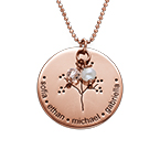 Rose Gold Plating Sterling Silver Sterling Family Tree Necklace