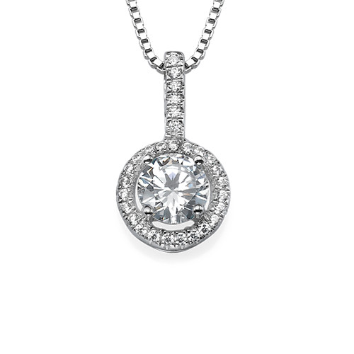Round Necklace with Cubic Zirconia