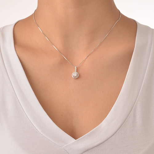 Round Necklace with Cubic Zirconia - 1