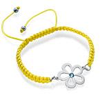 Flower Bracelet with Birthstone