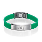 Silicone Bracelet with Personalized Stainless Steel Buckle