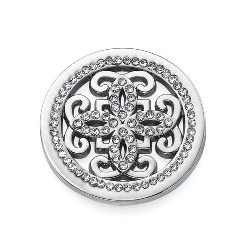 Silver Arabesque Coin