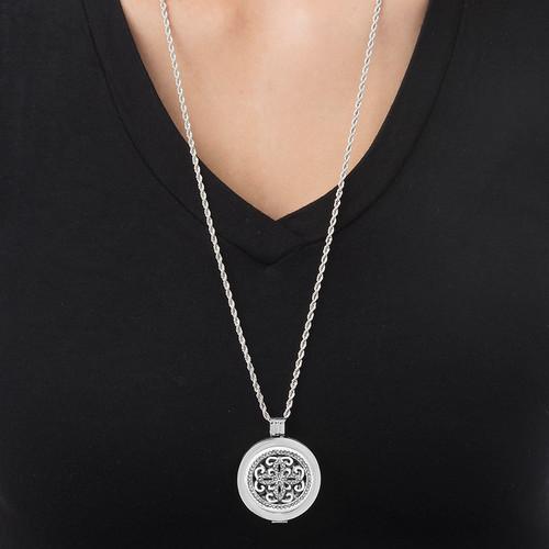 Silver Arabesque Coin - 1