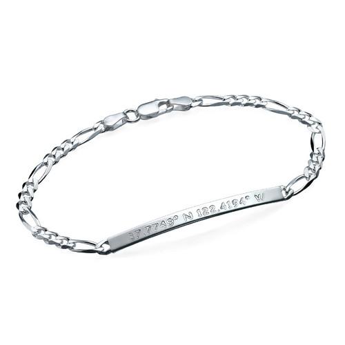 Silver Coordinates Bracelet
