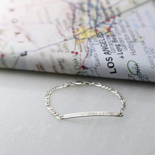 Silver Coordinates Bracelet - 2