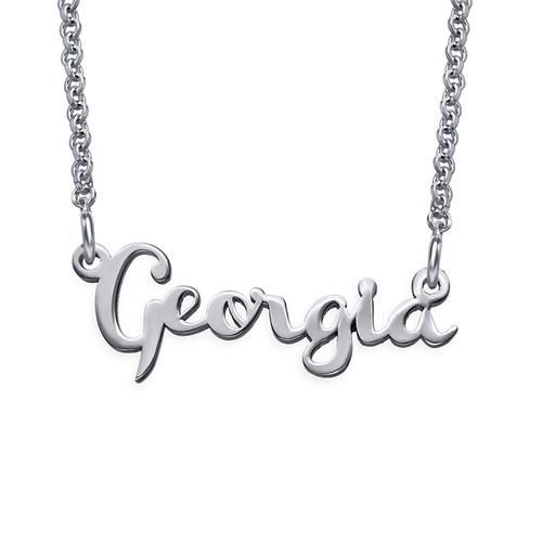 Signature Silver Cursive Name Necklace