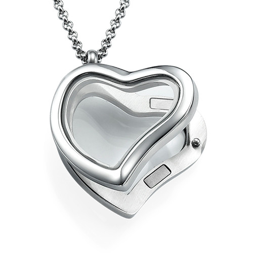 Silver Heart Locket - 1