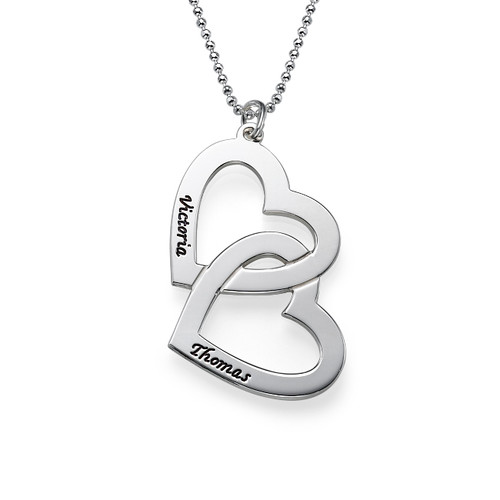 Silver Heart in Heart Necklace