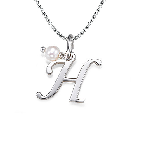 Silver initial necklace mynamenecklace silver initial necklace aloadofball Images