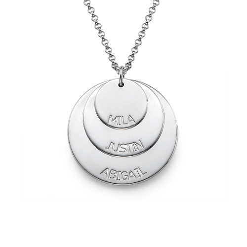 Silver Mom Necklace With Kid S Names Mynamenecklace