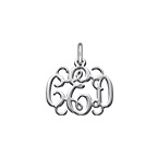 Silver Monogram Charm