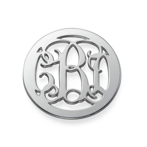 Silver Monogram Coin - Cut Out Design