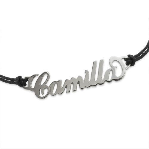 Personalized Silver Bracelet / Anklet - Side Heart