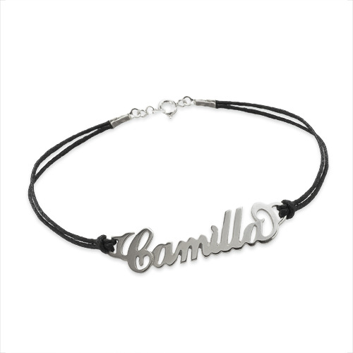Personalized Silver Bracelet / Anklet - Side Heart - 1
